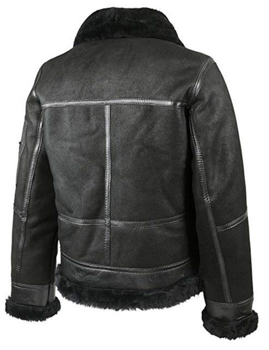 men's aviator b16 sheepskin shearling leather jacket