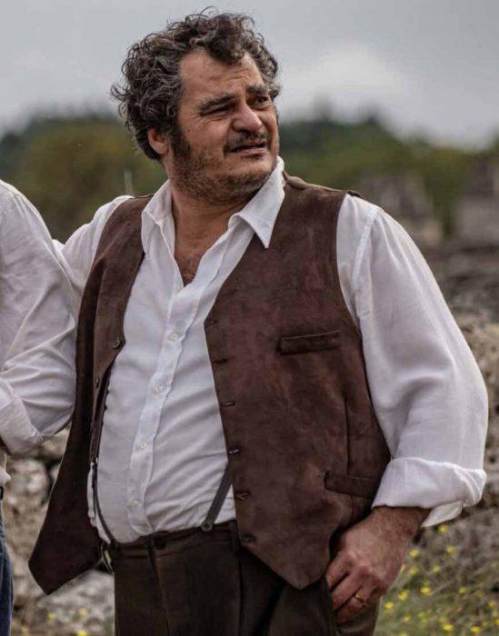 Antonio Gerardi L'ultimo paradiso Cumpà Schettino Brown Cotton Vest