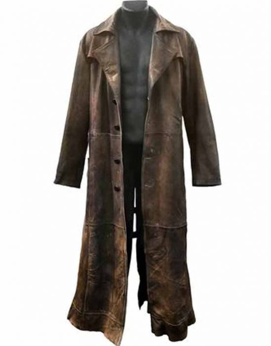 Batman Knightmare Brown Leather Coat