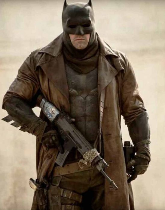 Batman Knightmare Future Brown Distressed Leather Coat