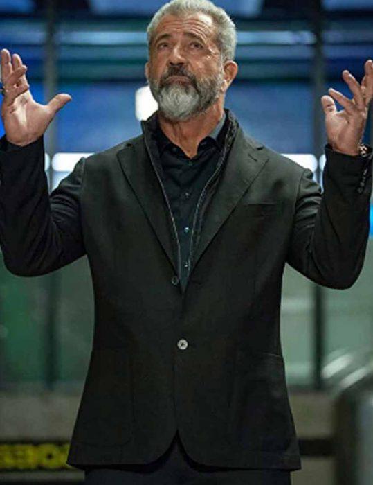 Boss-Level-2021-Mel-Gibson-Black-Blazer