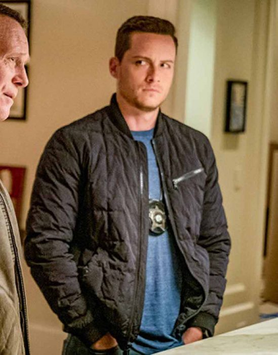 Chicago P.D. Jay Halstead Black Bomber Jacket