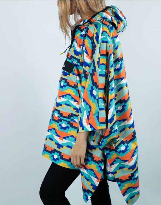 Finding Alice 2021 Yasmina Multi-Color Poncho