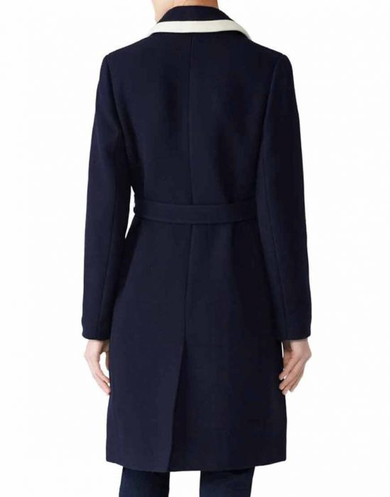 Meghan Markle Blue Wrap Coat