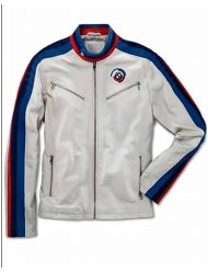 Men's-BMW-Classical-White-Leather-Jacket