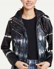 Nicole Kang TV Series Batwoman S02 Mary Hamilton Black Tie-dye Jacket