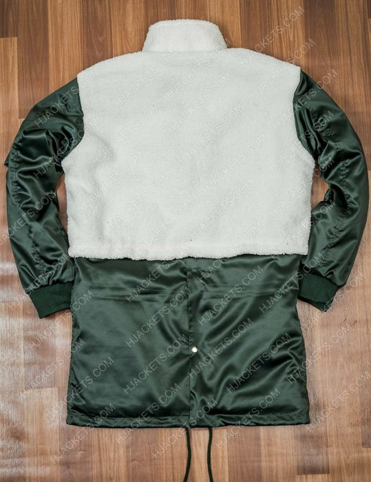 Robyn Mccall The Equalizer 2021 Queen Latifah Green & White Coat