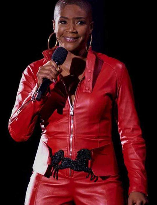 Tiffany-Haddish-S02-Red-Leather-Jacket