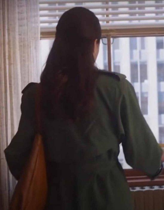 joanna my salinger year 2021 margaret qualley green coat