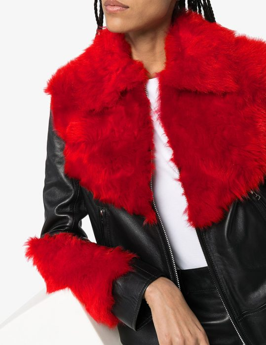 marques'almeida shearling leather aviator jacket