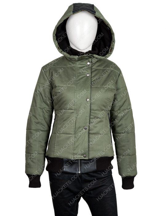 Chicago P.D. S07 Ep19 Tracy Spiridakos Bomber Hailey Upton Puffer Jacket