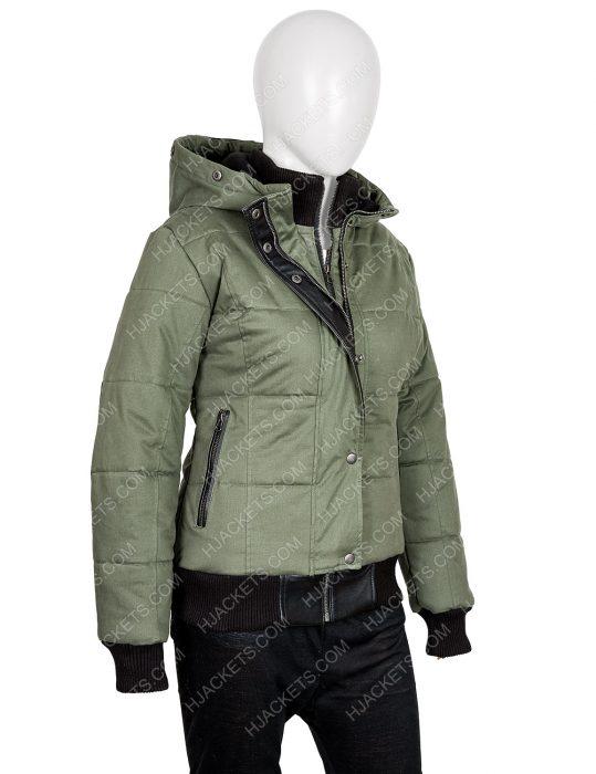 Chicago P.D. S07 Tracy Spiridakos Bomber Hailey Upton Puffer Jacket