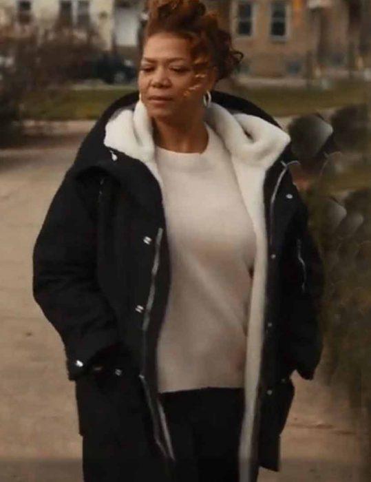 The-Equalizer-2021-Queen-Latifah-Black-Shearling-Coat
