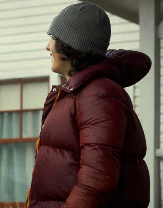 alex garfin superman and lois 2021 maroon puffer jacket