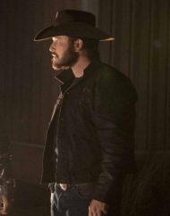 cole hauser yellowstone s04 rip wheeler black leather jacket