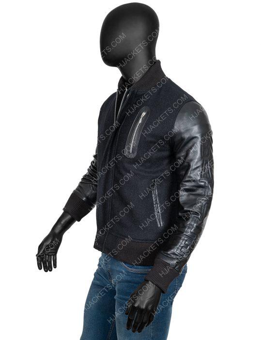 creed michael b jordan black bomber jacket