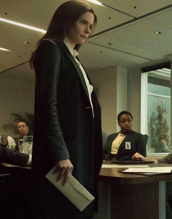 elizabeth tulloch tv-series superman and lois lane black trench coat