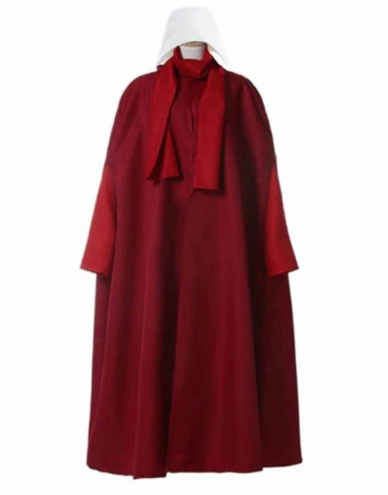 june os­borne the handmaid's tale s04 elisabeth moss red trench coat