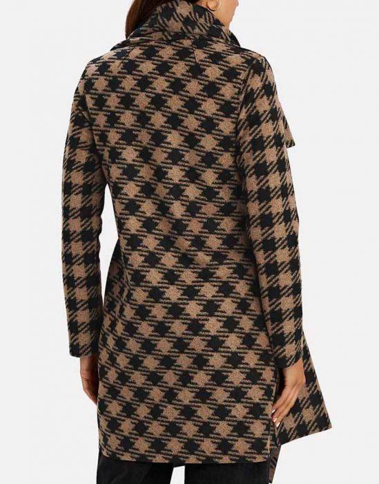 melody bayani the equalizer 2021 liza lapira houndstooth coat