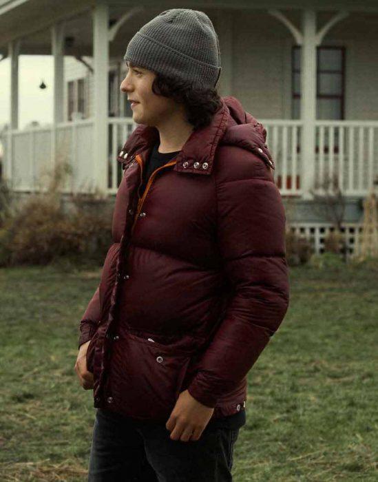 superman and lois alex garfin puffer jacket