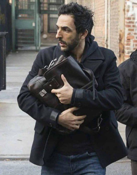 the blacklist s08 amir arison black coat