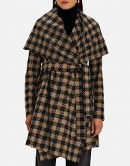 the equalizer 2021 liza lapira brown houndstooth coat