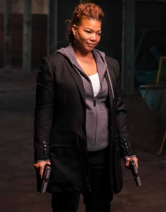 the equalizer (2021) queen latifah mid-length coat