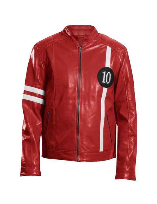 Ben-10-Tom-Holland-Red-Leather-Jacket