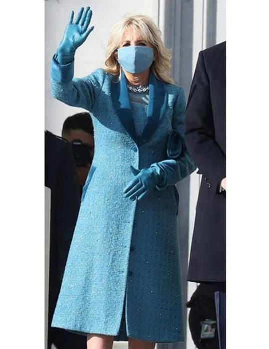 Jill-Biden-Blue-Trench-Coat
