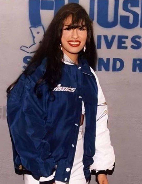 Selena-Quintanilla-Blue-Bomber-Jacket