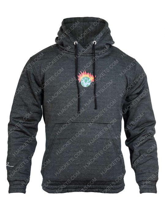 buddha ben black printed hoodie
