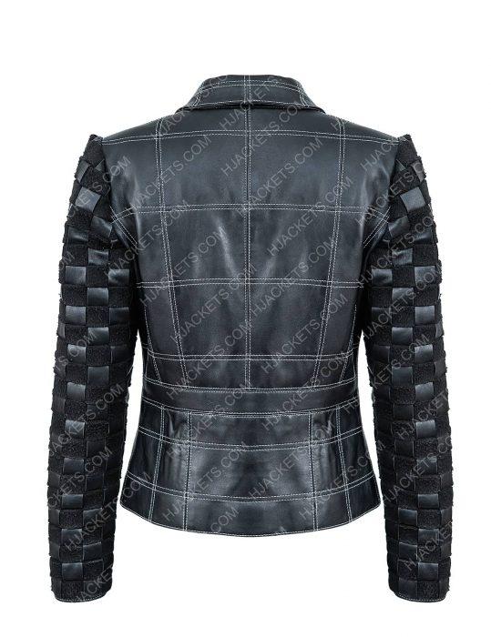 Emma Stone Cruella Deville Black Leather Jacket