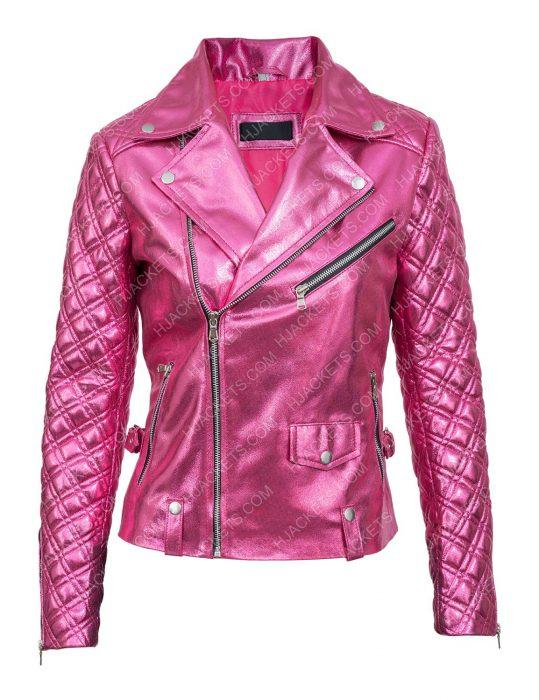 Billie Connelly Tv-series Sexlife 2021 Sarah Shahi Pink Jacket