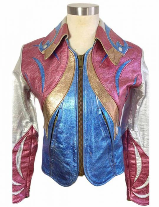 Girlboss-Britt-Robertson-East-West-Multi-Color-Leather-Jacket
