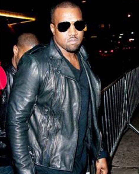Kanye-West-Biker-Style-Black-Leather-Jacket