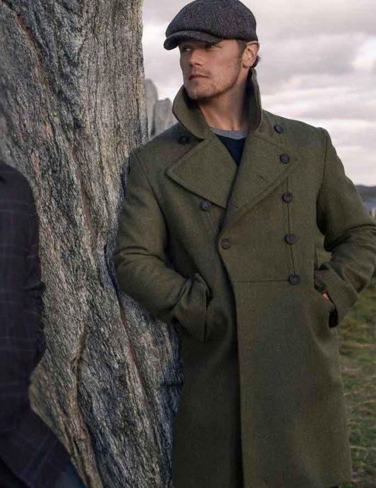 Men-in-Kilts-Sam-Heughan-green-Coat