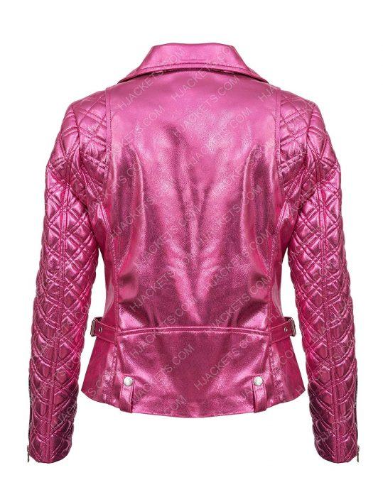 Sarah Shahi Pink Jacket