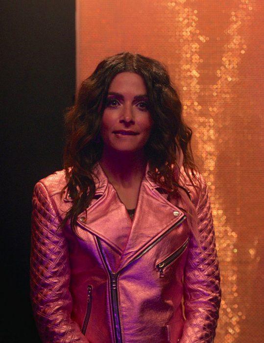 SexLife-Sarah-Shahi-Pink-Jacket
