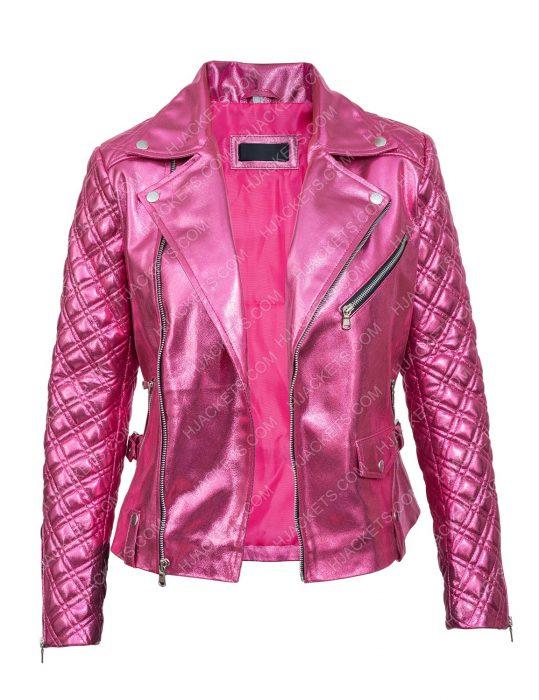 Sexlife 2021 Sarah Shahi Pink Jacket