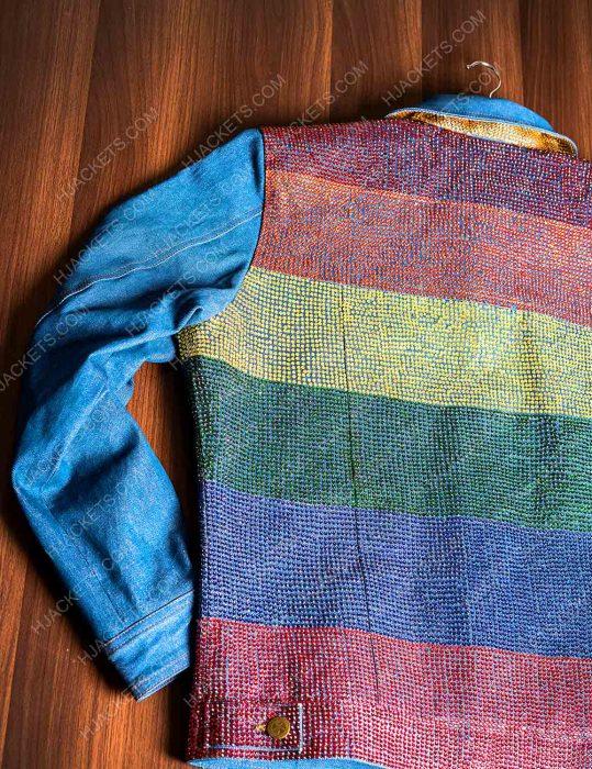 kamala harris gay pride flag rainbow jacket