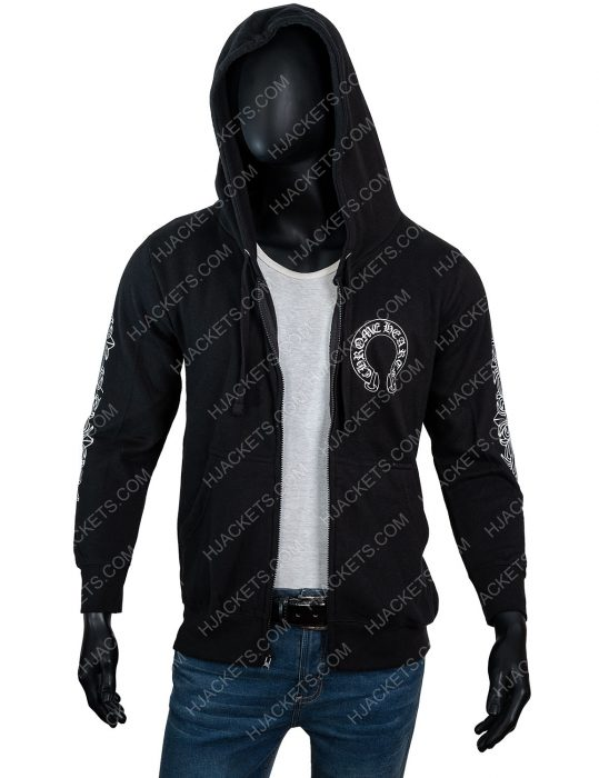 Chrome Hearts Floral Zip Hoodie For Men
