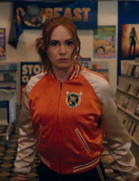 Eva Gunpowder Milkshake Karen Gillan Varsity Jacket
