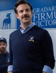 Ted Lasso Jason Sudeikis Blue Mens Sweater