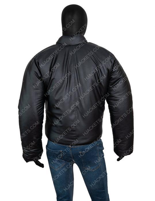 Yeezy Gap Black Round Leather Jacket