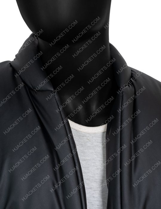 Yeezy Gap Round Leather Black Jacket