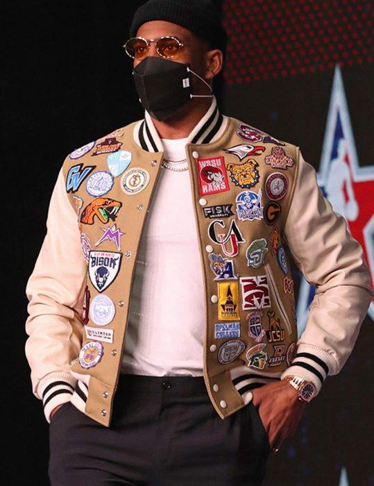 chris paul HBCU emblern varisty jacket