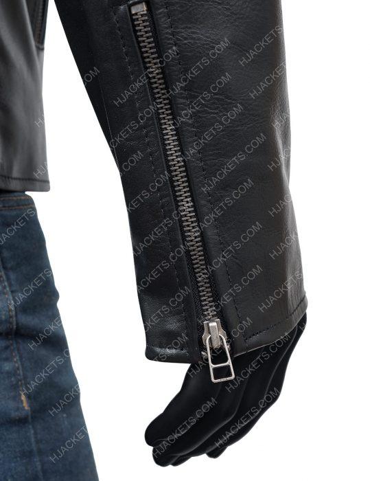 model s plaid elon musk leather jacket