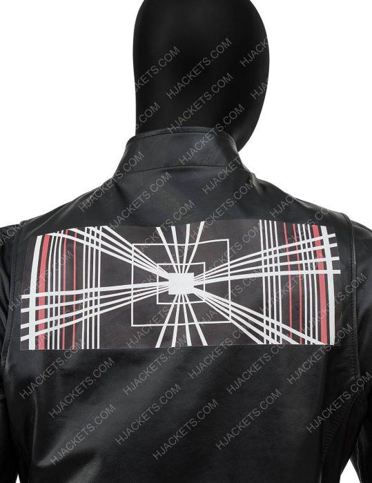 tesla model s plaid delivery event elon musk black leather jacket
