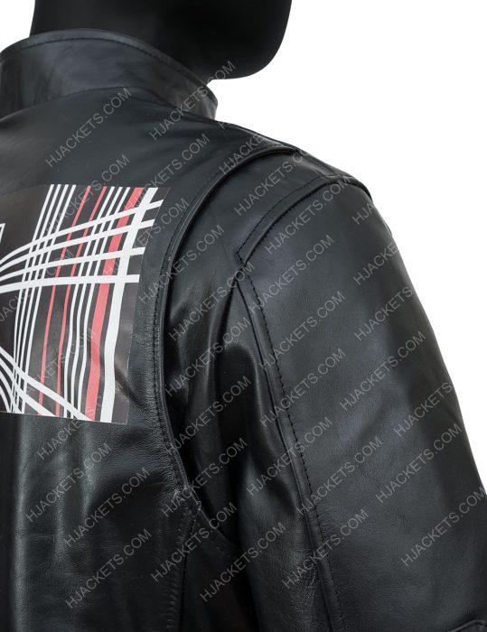 tesla model s plaid delivery event elon musk leather jacket for men