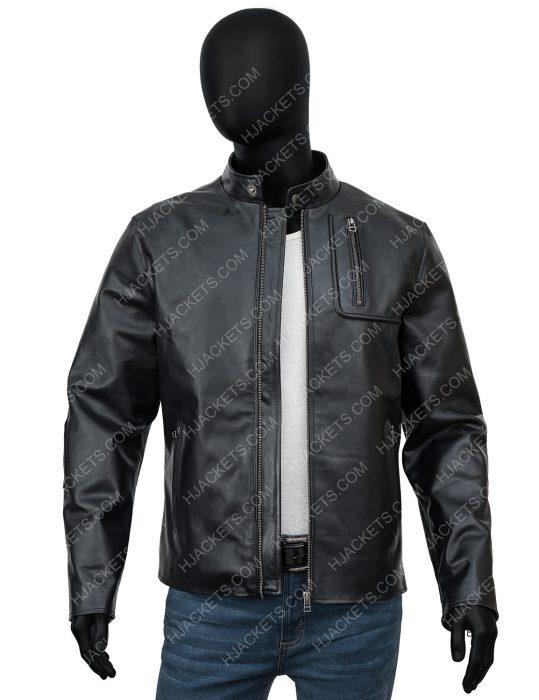 tesla model s plaid delivery event leather jacket